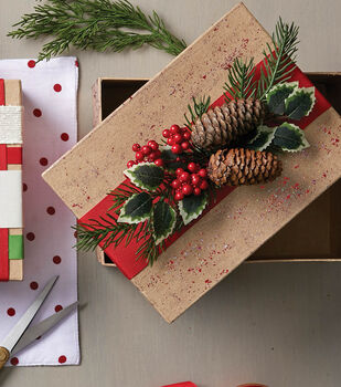 How To Make A Holiday Reusable Floral Ribbon Gift Wrap