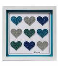 Glitter Paper Frame - Hearts