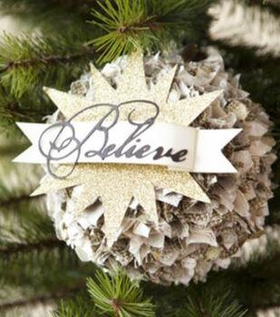 How to Make A Believe Pom Pom Ornament