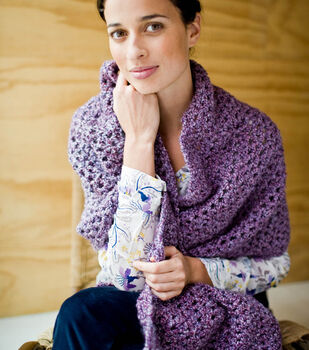 How To Make A Homespun tranquil Comfort Shawl