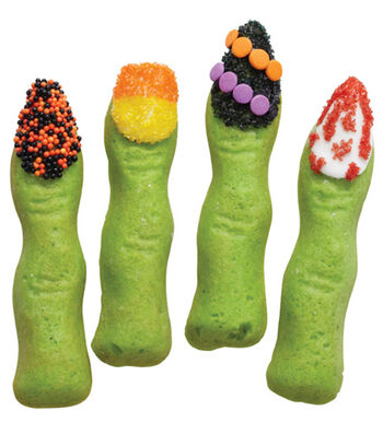 Halloween manicure Finger Cookies