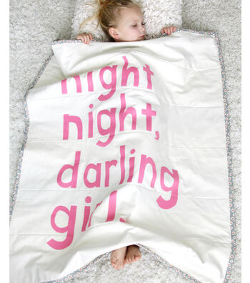 Night Night Darling Girl, a Non-Quilter's Baby Blanket