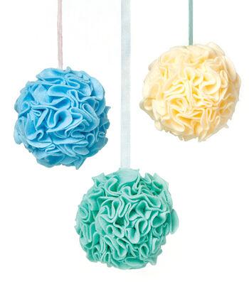 How To Make A Felt Floral Balls