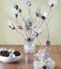 Branches and Snowflakes in Vase
