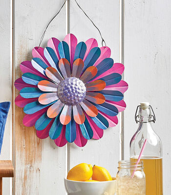 How To Make A Galvanized Flower Wall Hanging