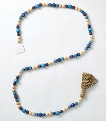 How To Make a Wood Bead Garland