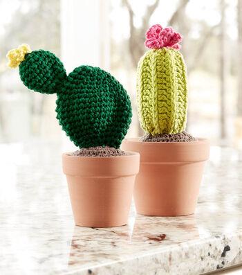 How To Make A Lily Sugar'N Cream Crochet Cacti