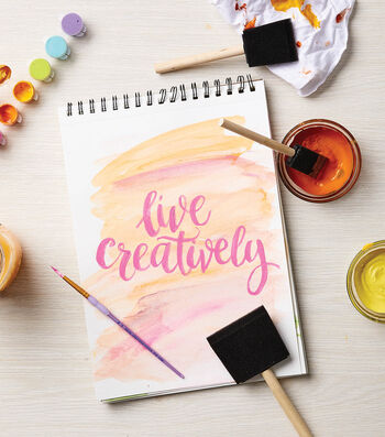 How To Make a Hand Lettered Watercolor Art