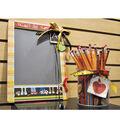 Grade School Chalkboard and Pencil Cup Set