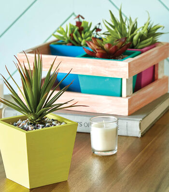 How To Make a Wooden Crate Planter with Succulents