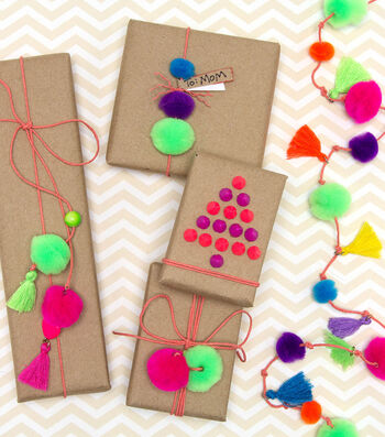 How To Make a Neon Garland & Gift Adornments