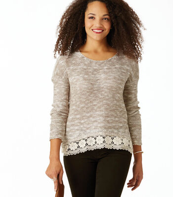 Make Lace Sweater With Trim