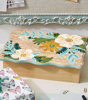 How To Make A Floral Painted Wood Box
