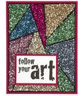 Shattered Glass Glitter Card