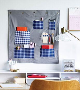 How To Make a Cotton Desk Wall Organizer