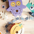 How To Make A Painted Wood Owl and Pumpkin Lantern