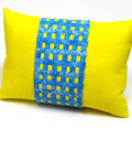 Grid Embellished Pillow