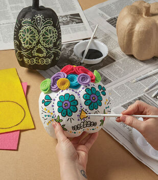 How To Make A Day of the Dead Pumpkin