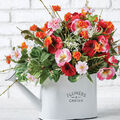 How To Make a White Watering Can Arrangement