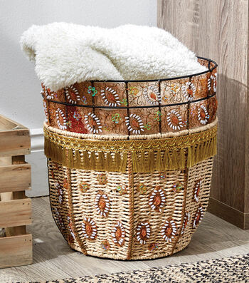 How To Make a Boho Beaded Tassel Basket
