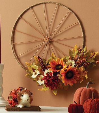 How To Make A Fall Wheel Décor