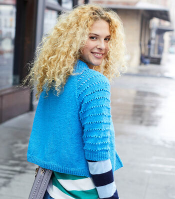 How To Make A Lion Brand Touch of Merino Top Down Cropped Cardigan