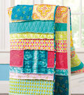 Frayed Strips and Patches Quilt