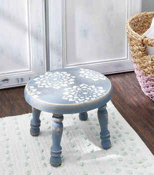 How To Make a Stenciled Wooden Stool