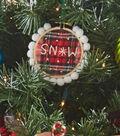 Pom Pom Trim Ornaments