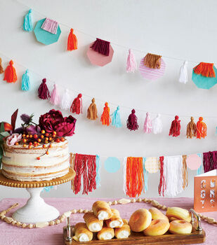 How To Make Yarn Party Banners and Garlands