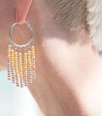 Make Beaded Fringe Hoop Earrings