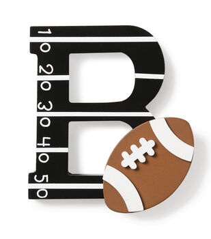 How To Make A Large Football Letter