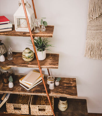 How To Make A Ladder Shelving Unit
