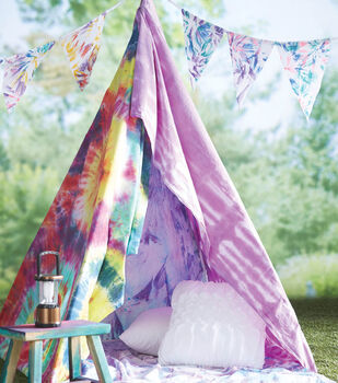 How To Make A Tie Dye Pennants and Tent