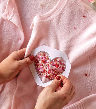 How To Make a Beaded Heart Sweater Patch