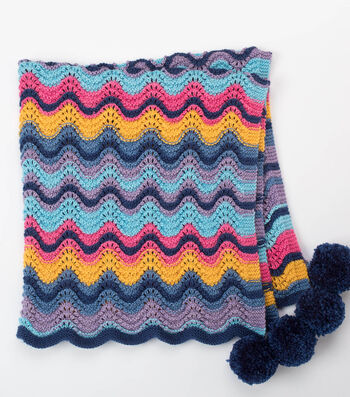 How To Make A  OLD SHALE STRIPES KNIT BABY BLANKET