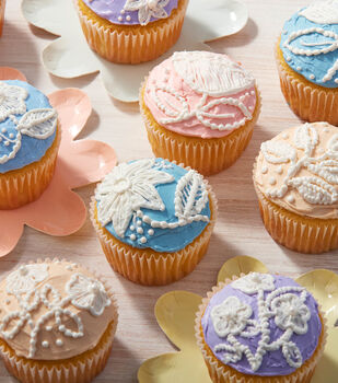 How To Make Blooming Embroidered Cupcakes