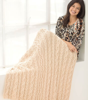 How To Knit A Dancing Cable Afghan