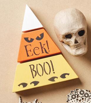 How To Make A Halloween Candy Corn Wood Blocks