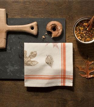 How to Make Fall Leaf Tea Towels