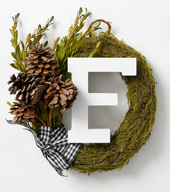 How To Make a Block Letter Wreath