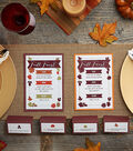 Fall Menu and Placecard Printables