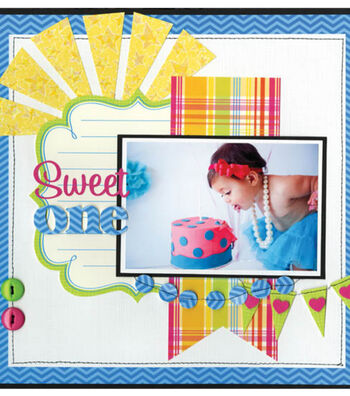 Sweet One Scrapbook Page