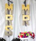 Idea Market Mr. and Mrs. Glitter Wedding Sign