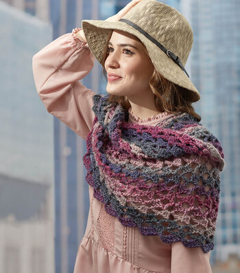 How To Make A RED HEART Colorscape  Roundabout Crochet Cowl