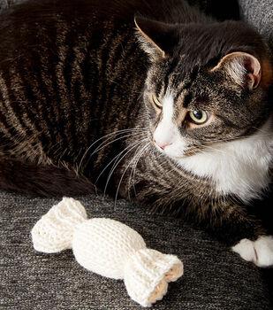 Knit Catnip Candy Toys