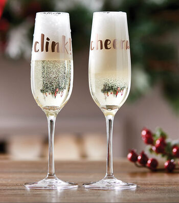 How To Make Holiday Champagne Flute