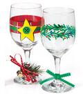 Rustic Christmas Wine Glasses