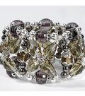 Silver Crystal Cuff Bracelet