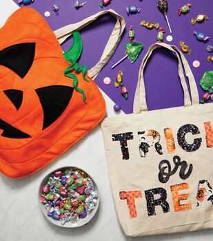 How To Make Trick or Treat Canvas Tote Bags